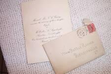 WEDDING INVITATION KINSEY ARGENBRIGHT 1903 ROANOKE VA