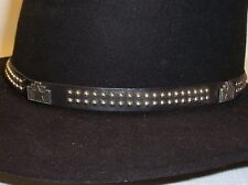 Black Hat Band Western Cowboy Leather Millinery Supplies [#3K]