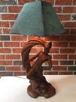 Vintage Rusted Art Deco Lamp