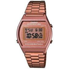 Casio B640WC/5A Classic Digital Watch with Stainless Steel Band - Rose Gold