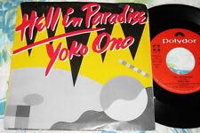 "Yoko Ono - Hell In Paradise  - POLYDOR 7"" DJ PROMO W/SLEEVE - NM"