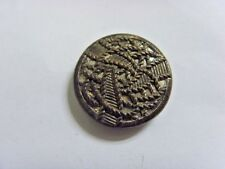 1920s antiqe filigree cutout metal rope labyrinth style mirror back button 49220