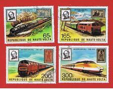 Burkina Faso #501-504 VF used  Trains  Free S/H