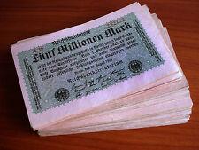 Reichsbanknote Fünf Millionen Mark , Berlin, 1923 konvolut lot 100 Stück