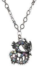 Dragon Necklace antique silvertone Kirks Folly Sparkling Dracon