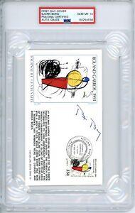 1991 FRENCH OPEN TENNIS BJORN BORG GATEWAY STAMPS FDC  SIGNED AUTO PSA 10 LE HOF