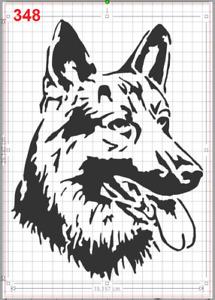 German Shepherd Dog Head Stencil MYLAR A4 sheet strong reusable Art Craft Deco