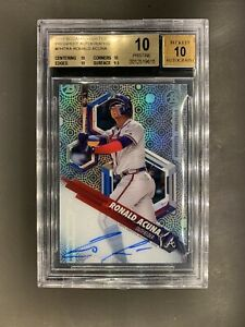 2018 Bowman High Tek Prospect Autographs Ronald Acuna Jr. Braves BGS 10 Pristine