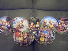 Lot of 7 Little Companions Danbury Mint Hummel Collector Plates Set Explorers