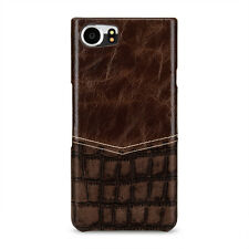 TETDED Premium Leather Case for BlackBerry KEYone Caen Venus EB Dark Brown