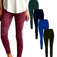 Ladies Skinny New Jeggings Casual High Waist Trousers Women's Long Pants Cargo