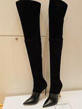 Balmain Stiefel Overknee Stiefel Leder Schwarz Gr. 39 LP: 1.899 EU NEU