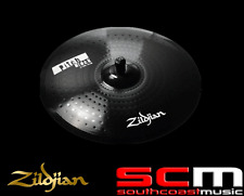 "RRP$490 Zildjian ZIZPB22R 22"" Ride Pitch Black Cymbal Rock Drumming Black Finish"