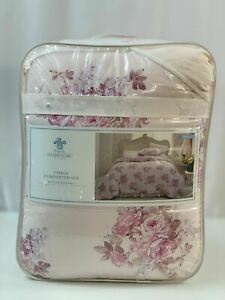 Simply Shabby Chic King Comforter Set Blush Bouquet Pink Ditsy 3 Pc New