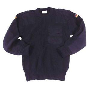 dunkelblau neu 100/% Polyacryl Feuerwehr Pullover