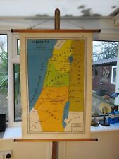 ORIGINAL VINTAGE MAP OF PALESTINE AT THE TIME OF CHRIST CIRCA 1965