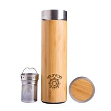 Natural Bamboo Vacuum Thermo Flask Tumbler Triple-Layer SS304 Liner