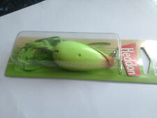 Weedless Heddon spoon Chartreuse Scale,BNIP