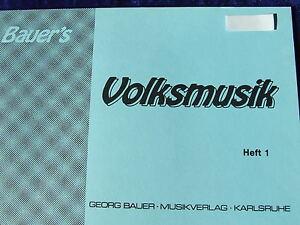 Bauer`s Volksmusik Heft 1, Es-Klarinette