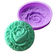 Rose Flower with Deco Border Deep Silicone Mold for Fondant, Gum Paste Chocolate