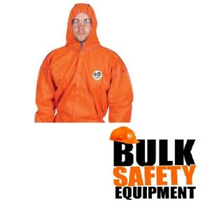 50 x  FORCE360 CFPR181 DEFENDER DISPOSABLE ORANGE TYPE 5 & 6 SMS COVERALLS