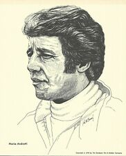 Print: MARIO ANDRETTI Portrait 1976 Goodyear Tire. Auto Racing. Indy 500. Photo