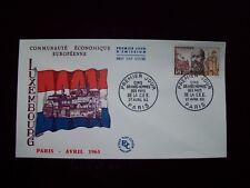 1963_ENVELOPPE 1er JOUR_FDC_CELEBRITES DE LA CEE-MAYRISCH (LUXEMBOURG).