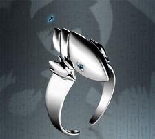 Anime Yu-Gi-Oh Seto Kaiba Blue-Eyes White Dragon 925 Sillver Ring Cos Gift