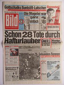 Bild Zeitung 5.9.1988, Elton John - Scheidung, Sonja Kirchberger, Olympia