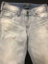 EUC Silver Jeans/Suki Surplus-Jeans Womens Sz.26x30-Cotton Bl-Lt.Blue Denim/Boot