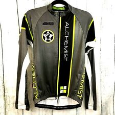 Alchemist JL Velo Cycling Jersey Size Small Long Sleeves Gray Green NWOT