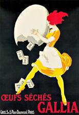 GALLIA oeufs séchés Cuisine Cafe resturant Food DECO Poster Print
