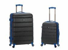 "20"", 28"" 2 Piece Expandable Spinner Hard Luggage Set ABS - Gray"