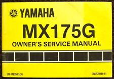 YAMAHA 1979 MX175G MOTORCYCLE OWNER'S MANUAL #3MZ-28199-11