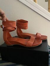 Rudsak Orange Fiesta Ankle Cuff Leather Sandals 38
