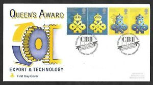 1990 Queen's Awards Mercury first day cover. CBI Silver Jubilee cancellation.