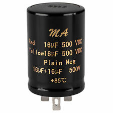 16uF + 16uF 500V Polarized Electrolytic Multi-Section Can Capacitor