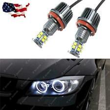 Mega White BMW H8 LED Angel Eyes Ring Marker Light Bulb For 1 3 5 X Series 07-12