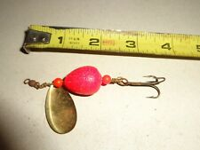 Vintage Unusual Red Ball Floating Top Water Spinner Fishing Lure Bait