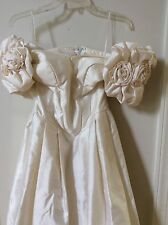 Priscilla of Boston Creme Ivory Wedding Dress Sz. 2-6