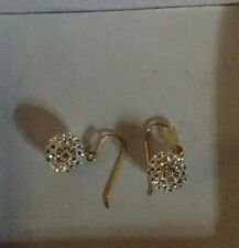 Gold N Ice Earrings Swarovski crystals With 14K Gold