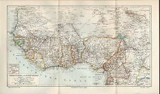 Landkarte map 1906: OBER-GUINEA und WEST-SUDAN. Afrika Africa Atlantik Sahara
