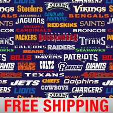 "Fleece Fabric NFL All Teams Rams Patriots Seahawks 60"" Wide Free Shipping 14872"