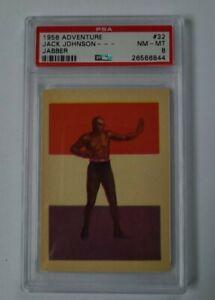 1956 ADVENTURE #32 JACK JOHNSON--- PSA 8 Boxing Legend!