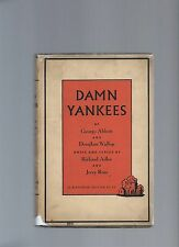 Damn Yankees George Abbott & Doulgass Wallop First Edition First Printing Scarce