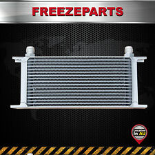 Universal 17 Row AN10 Engine Transmission 248mm Aluminum Oil Cooler Silver
