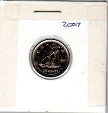 CANADA COINS, 2007  DIME (10c)  BLUENOSE DESIGN IN UNC COND.