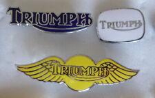 TRIUMPH MotorCYCLE MotorBIKE MOTORING Enamel Lapel Pin Badges x 3 inc WINGS
