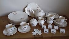32 piece Donegal Parian China, Claddagh Pattern in Prestine Condition