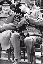 WW2 - Le Général Charles de Gaulle et Winston Churchill à Londres